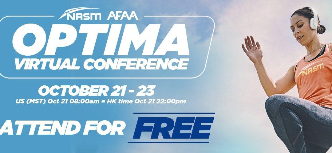 NASM/AFAA OPTIMA 2021 Virtual Conference : English